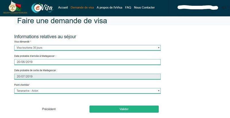 Visto elettronico online per il Madagascar