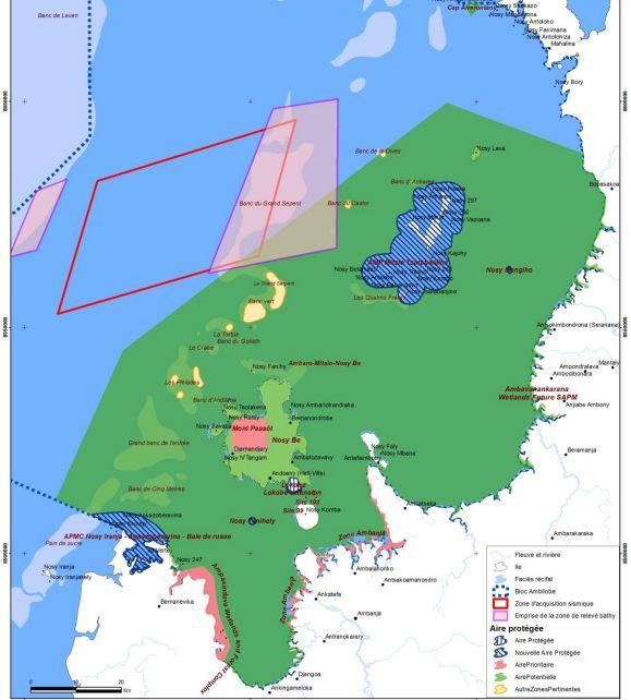 Carte exploitation pétrole à Magascar