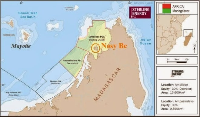 Oil map nosy be and north madagascar
