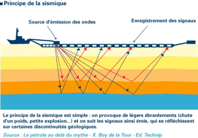 principe sismique e pétrole