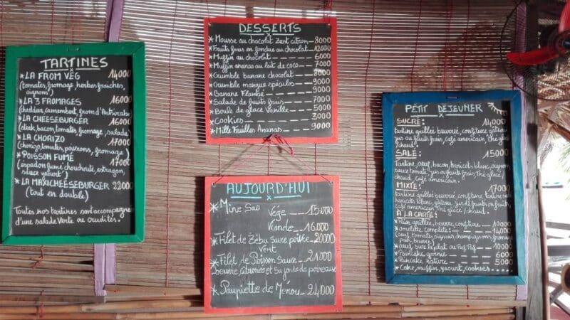 menu tsy manin madirokely nosy be