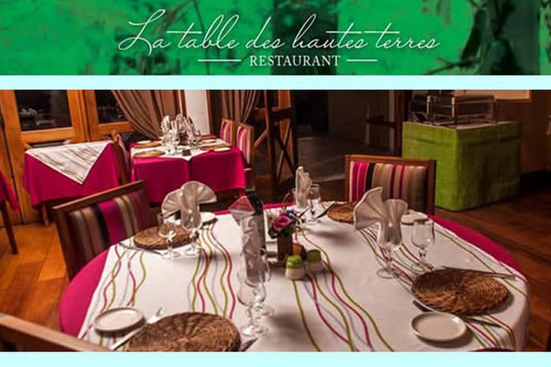 La Table des Hautes-Terre restaurant LA TABLE DES HAUTES TERRES in Tana