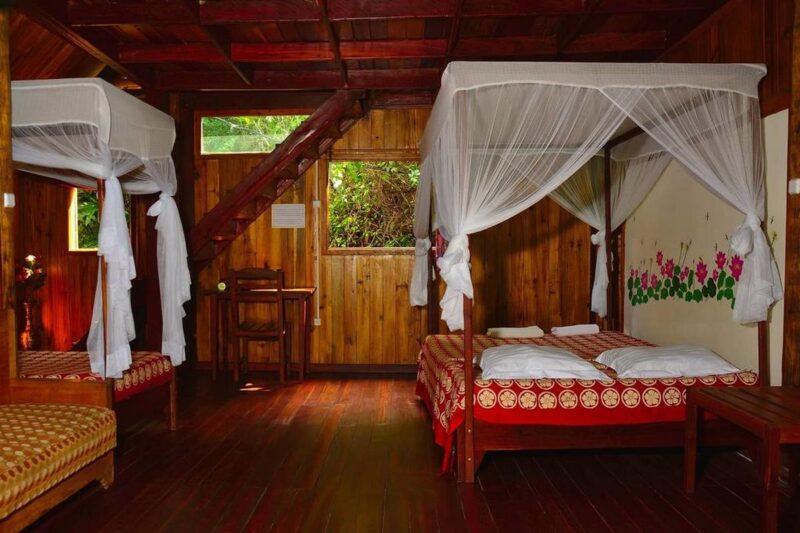 chambre familiale acacias bungalows manambato pangalanes