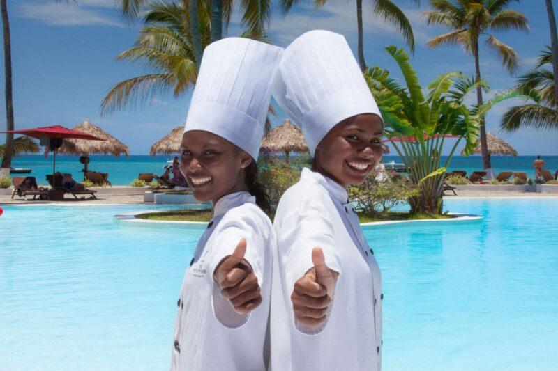 cuisiniers andilana beach resort nosy