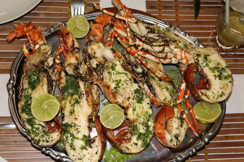 fruits de mer hotel de la baie antsiranana diego suarez