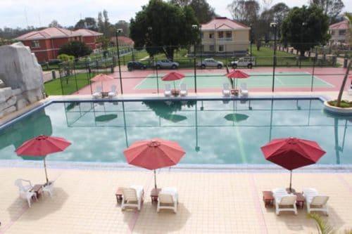 Pavone dell'hotel a Ivato - Antananarivo