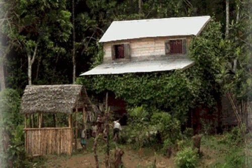 The bush hut in Tamatave - Madagascar