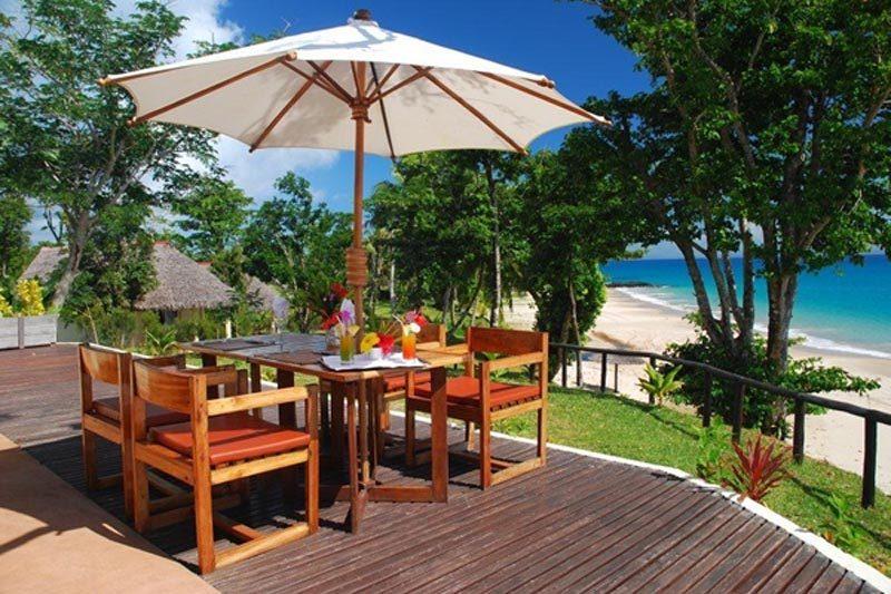 terrasse Tipanier Lodge à Sainte-Marie - Madagascar