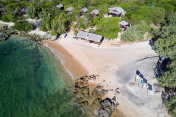 vue aerienne babaomby island lodge diego suarez