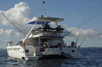 vue du bateau Cama à nosy be