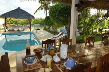 la piscine,le petit déjeuner Holiday Home Lostissement No 4 nosy be