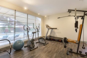 fitness center at the Relais des Plateaux & Spa in Ivato