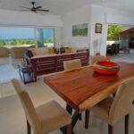 the living room and dining area of Villa Kintana Naka nosy be