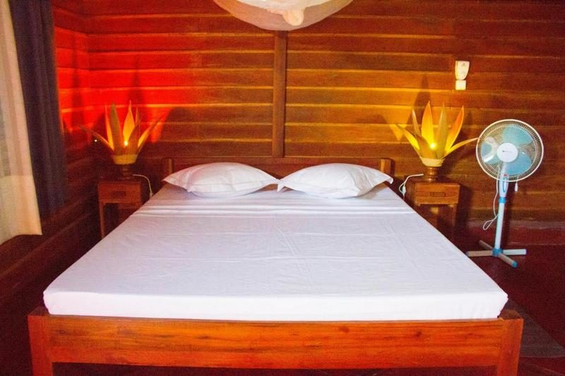 tropical bungalow room in nosy be