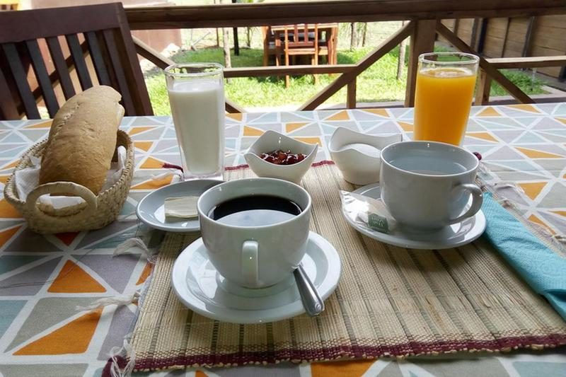 tropical bungalow breakfast at nosy be