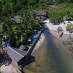 vue aerienne ylang hotel ambondrona nosy be