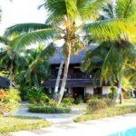 vue de la piscine ylang hotel ambondrona nosy be