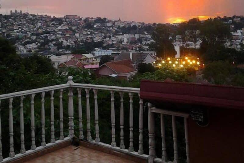 the terrace of B & B Au Triporteur in Antananarivo