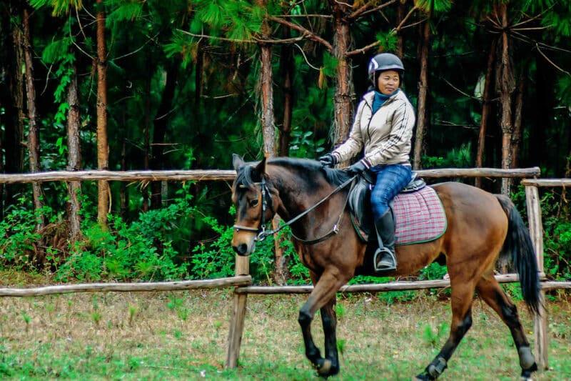 Horseback riding in Mantasoa, outskirts of Antananarivo