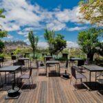 Patio et vue du restaurant Citizen à Antananarivo