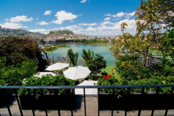 View of the terrace of the Citizen restaurant in Antananarivo