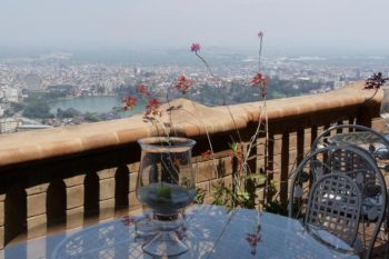 Day view on the terrace of the restaurant Lokanga in Antananarivo