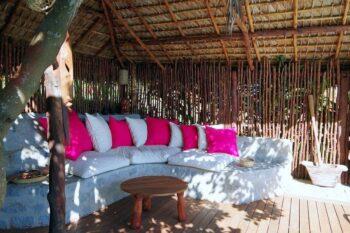 Patio de la villa tropicale prposée par Concept Nosy Be