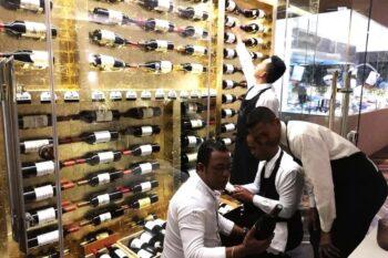 Vin servi au restaurant Le Marais qui se trouve à Ankorondrano, à Antananarivo
