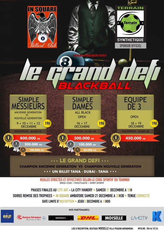 tournoi billard In Square Ambatobe