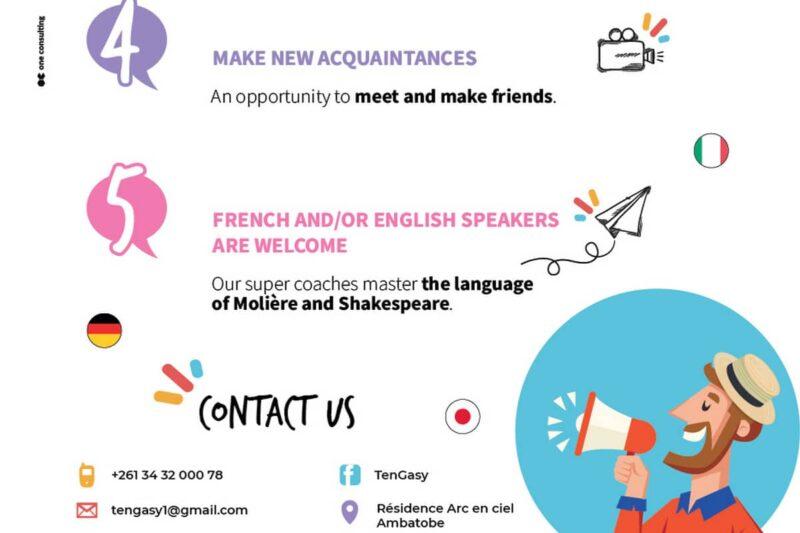 flyers anglais suite cours de langue malagasy ten gasy ambatobe antananarivo
