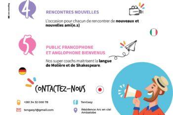 flyers francais suite cours de langue malagasy ten gasy ambatobe antananarivo