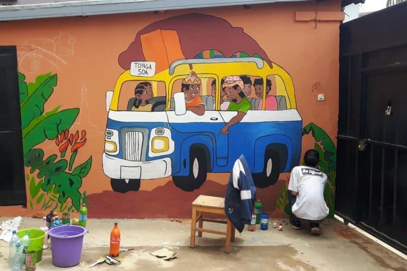 peinture villa espoir anjanahary antananarivo