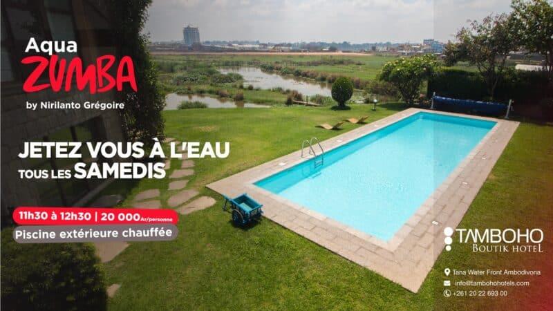 activite zumba a la pisccie du Tamboho Boutik Hotel