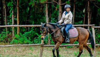 Balade à cheval à Mantasoa, en périphérie d'Antananarivo