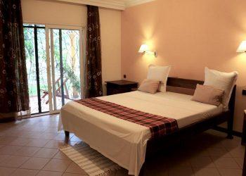 Chambre double de l'hôtel AR Sun près de l aéroport de Diego Suarez