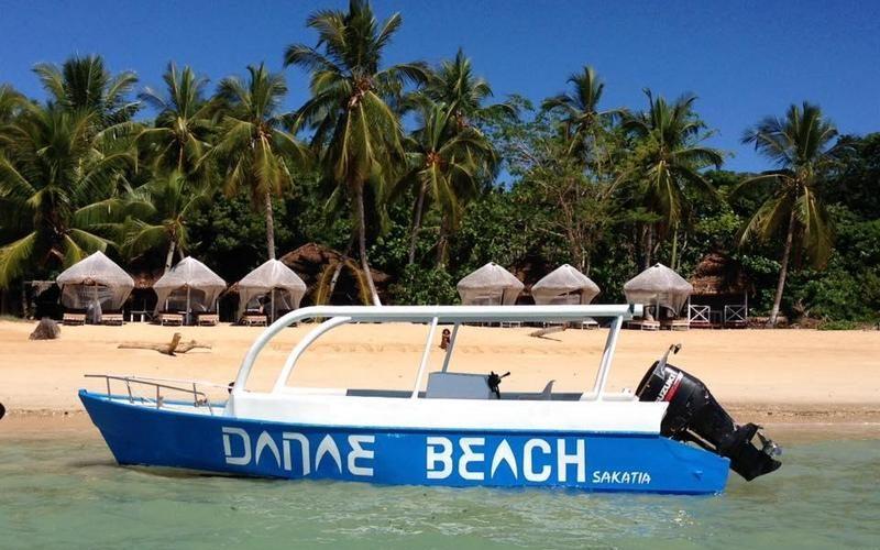 the beach Danae Beach nosy be