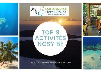 Top 9 activités nosy be