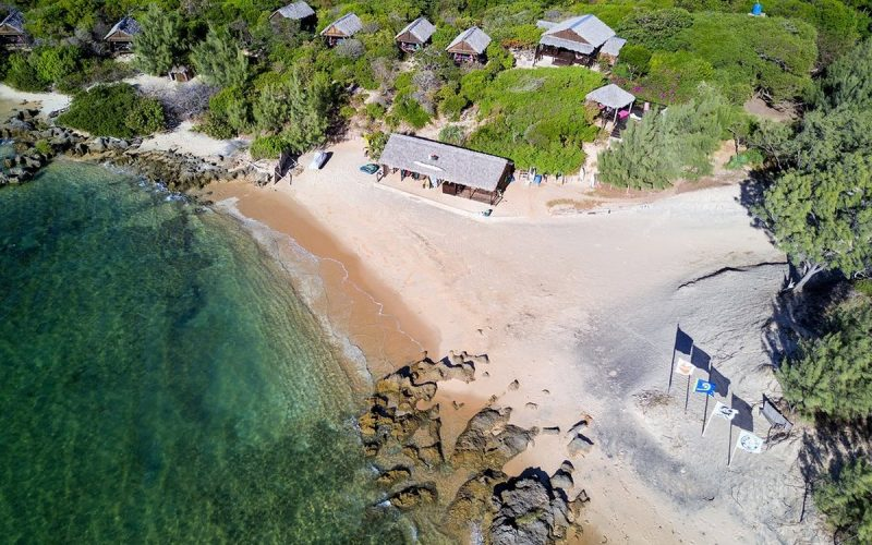 vue aerienne babaomby island lodge diego suarez