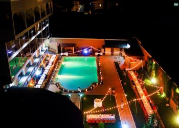 vue nuit hotel le royal palace antsirabe
